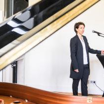 Stiftungsvorstand Julia Wittgens sprach zu den Zielen und anstehenden Aufgaben